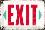 Nostalgic Art Exit Metal Kabartmalı Duvar Panosu 22218
