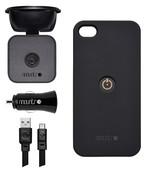 Mountr Glass Set İphone 4/4S Araç İçi Tutucu  Siyah - SK-SCM-İ4B