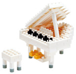 Nanoblock Grand Piano White Nbc-053