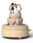 Wooderfull Life Düğün Pastası Müzik Kutusu 3359