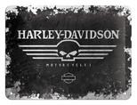 Nostalgic Art Harley Davidson Skull Metal Kabartmalı Duvar Panosu 26116