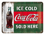 Nostalgic Art Cocacola - Ice Gold Metal Kabartmalı Pin Up Duvar Panosu 26174