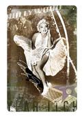 Nostalgic Art Marilyn Monroe Subway Grate Metal Kabartmalı Duvar Panosu 22106