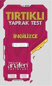 Anafen 3.Sınıf İngilizce Tırtıklı Yaprak Test 20 Yaprak