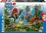Educa Puzzle Çocuk 300 Dinosours 16366 Karton