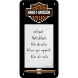 Nostalgic Art Harley Davidson Logo Magnetli Not Defteri (10x20 cm) 84020