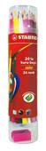 Stabilo Color 24'lü Kuru Boya Plastik Tüp 1224/77-PT