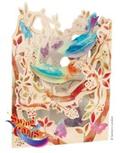 Santoro Gorjuss Gc-Swing Cards-Birds And Butterflies 3D Kart Sc123