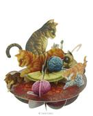 Santoro Gorjuss Pirouettes Cat and Kittens 3D Kart Ps014