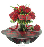 Santoro Gorjuss Pirouettes - Bouquet Of Roses 3D Kart Ps017