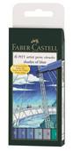 Faber-Castell Pitt Çizim Kalemi Fırça Uç Gök Renkleri 5188167164