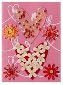 Coccomell Handmake Sticker Kalp Çiçekli 9385005