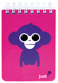 Just Blok Monkey Sert Kapak Spiralli Bloknot