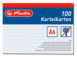 Herlitz Kartoteks 100 Çizgili Beyaz A6 606