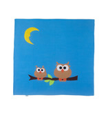 Petit Something Baykuşlu Mavi Bebek Battaniyesi
