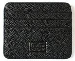 Leather & Paper Siyah Deri Kredi Kartlık