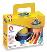 Carioca Yıkanabilir Parmak Boyası - 6 Renk x 80gr  KO 023