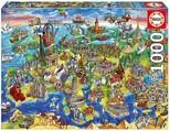 Educa Puzzle 1000 Parça European World 16752