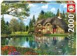 Educa Puzzle 2000 Parça Lake View Cottage 16774