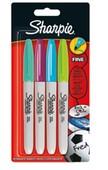 Sharpie Fine Permanent markör, Canlı renkler 3+1 Bls
