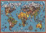 Anatolian-Kelebekli Dünya Haritası 1000 Parça Puzzle 1029
