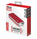 Trust Urban Primo PowerBank 4400 Portable Charger - red 21226