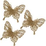 PMS Altın Simli Kelebek 4'lü