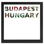 decARTHOME Budapeşte Anı Çerçevesi Siyah