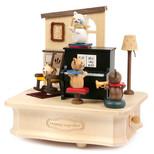 Wooderful Life Cat Play Piano - Kedi Orkestrası Müzik Kutusu