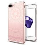 Spigen iPhone 7 Plus Kılıf, Liquid Crystal 4 Tarafı Tam Koruma Shine Pink