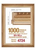 Polist-Çer 1000 Altın 68x48cm.