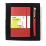 Lecolor Recnote Defter+Kalem Set Kırmızı