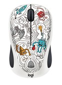 Logitech M238 Doodle Koleksiyon Kablosuz Mouse - Techie White