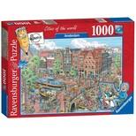 Ravensburger Amsterdam Karikatür 1000 Parça Puzzle (191925)