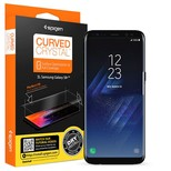 Spigen Galaxy S8 Plus Ekran Koruyucu, Spigen Curved Crystal HD Kavisli Tam Kaplayan 2 Adet 571FL2170