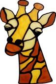 Dekoratif Cam Takısı Zürafa