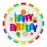 Roll-Up Karton Tabak Renkli Doğum Günü