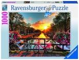 Ravensburger Amsterdam'da Bisiklet 1000 Parça Puzzle