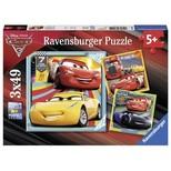Ravensburger WD Cars3 3x49 Parça Puzzle (80151)