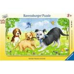 Ravensburger Çerceveli Yavru Köpekler 15 Parça Puzzle (W61303)