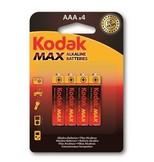 Kodak K3A-4 Max Alkalin Aaa İnce Pil 4'Lü Paket