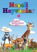 Neşeli Hayvanlar 1-İngilizce Öğreten Boyama Kitabı