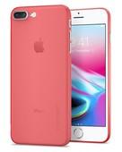 Spigen iPhone 7 Plus Kılıf Air Skin Ultra İnce 4 Tarafı Tam Koruma Crimson Red 043CS21727