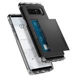 Spigen Galaxy Note 8 Kılıf Crystal Wallet Cüzdan Black 587CS21846