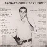 Leonard Cohen: Live Songs Plak