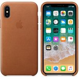 Apple iPhone X Deri Kılıf, Saddle Brown MQTA2ZM/A
