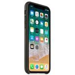 Apple iPhone X Deri Kılıf, Gri