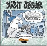 Uykusuz Yiğit Özgür Duvar Takvimi 2018