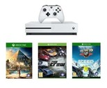 XBOX ONE S 500 GB & Assassin's Creed: Origins, Steep, The Crew Oyunları Dahil