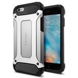 Spigen iPhone 6/6s Kılıf, Tough Armor Tech Satin Silver SGP11744